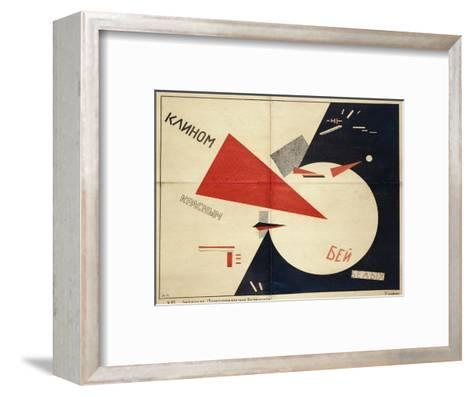 Beat the Whites with the Red Wedge (The Red Wedge Poster), 1919-El Lissitzky-Framed Art Print