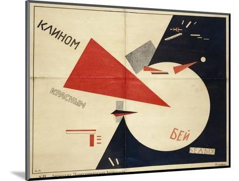 Beat the Whites with the Red Wedge (The Red Wedge Poster), 1919-El Lissitzky-Mounted Giclee Print