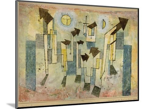 Wall Painting from the Temple of Longing Thither, 1922-Paul Klee-Mounted Giclee Print