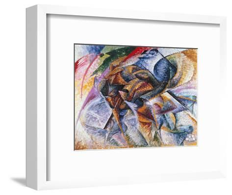 Dynamism of a Cyclist, 1913-Umberto Boccioni-Framed Art Print