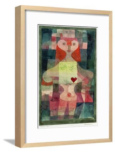 Queen of Hearts (Herzdame), 1922-Paul Klee-Framed Art Print