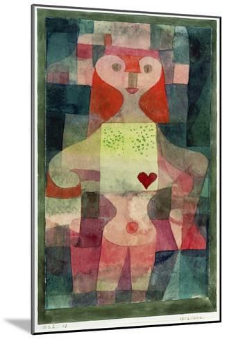 Queen of Hearts (Herzdame), 1922-Paul Klee-Mounted Giclee Print