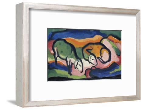 Sheep, 1912-Franz Marc-Framed Art Print