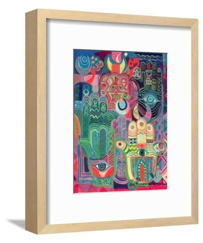 Hands as Amulets II, 1992-Laila Shawa-Framed Art Print