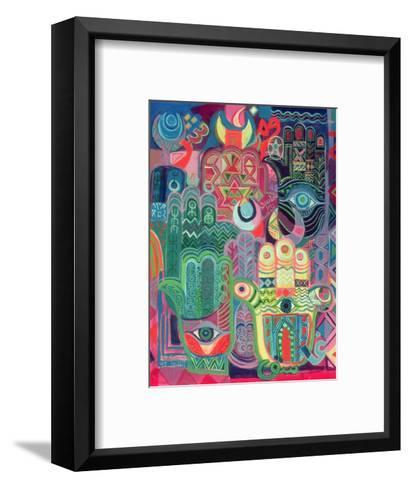 Hands as Amulets II, 1992-Laila Shawa-Framed Art Print