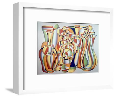 Time and the Abstract Truth, Lapis Orange-Brian Irving-Framed Art Print