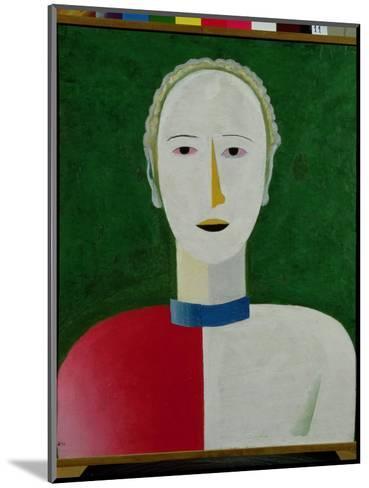 Female Portrait, 1928-32-Kasimir Malevich-Mounted Giclee Print