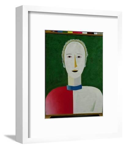 Female Portrait, 1928-32-Kasimir Malevich-Framed Art Print