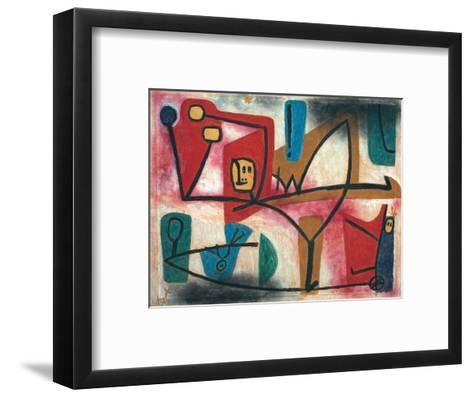 Uebermut (Arrogance)-Paul Klee-Framed Art Print
