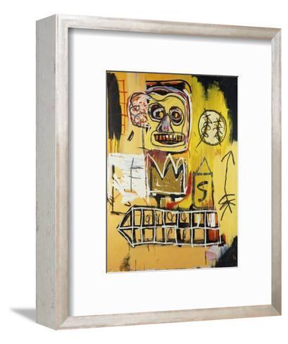 Untitled (Orange Sports Figure)-Jean-Michel Basquiat-Framed Art Print