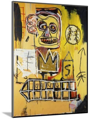 Untitled (Orange Sports Figure)-Jean-Michel Basquiat-Mounted Giclee Print