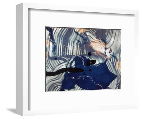 Abstract Image in Blue and White-Daniel Root-Framed Art Print