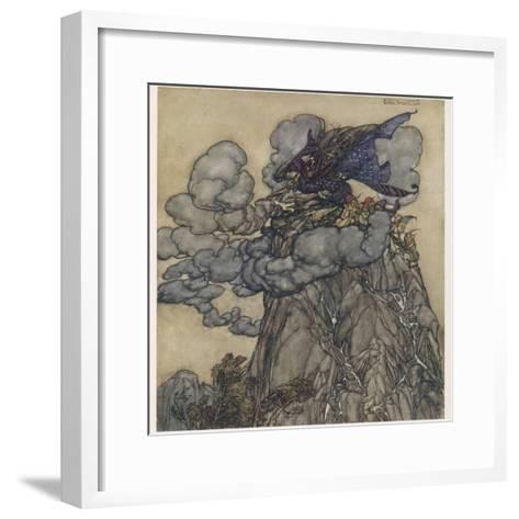 Witch Brews Storm-Arthur Rackham-Framed Art Print