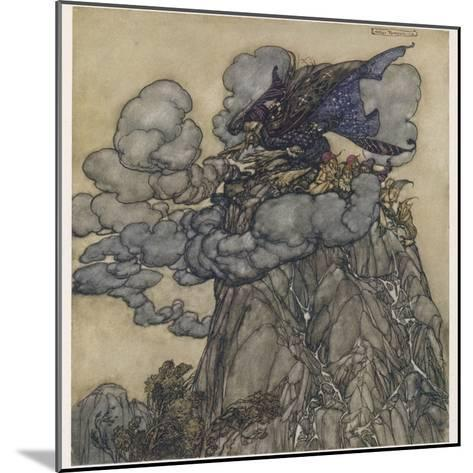 Witch Brews Storm-Arthur Rackham-Mounted Giclee Print