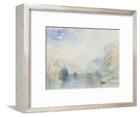 The Lauerzersee with Schwyz and the Mythen, early 1840's-J^ M^ W^ Turner-Framed Art Print