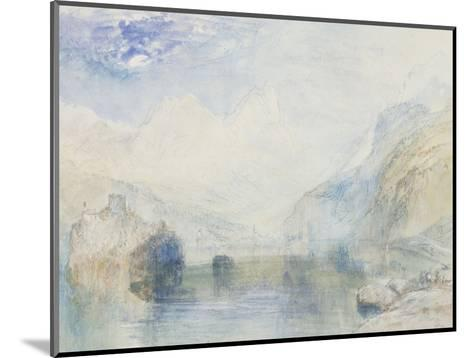 The Lauerzersee with Schwyz and the Mythen, early 1840's-J^ M^ W^ Turner-Mounted Giclee Print
