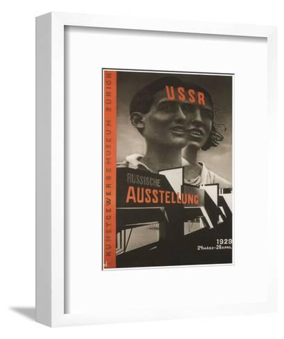 Poster for the Russian Exhibition in Zurich, 1929-El Lissitzky-Framed Art Print