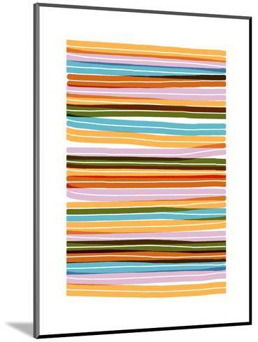 Palm Spring Stripes-Francesca Iannaccone-Mounted Giclee Print