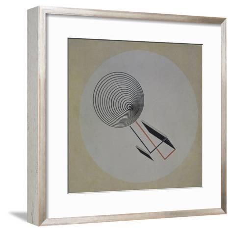 Proun 93. Floating Spiral, 1924-El Lissitzky-Framed Art Print