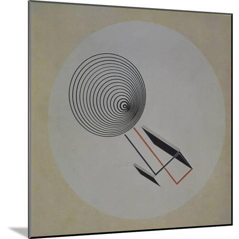 Proun 93. Floating Spiral, 1924-El Lissitzky-Mounted Giclee Print