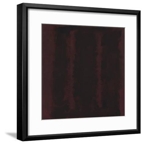 Untitled {Sketch for Mural/ Black on Maroon} [Seagram Mural Sketch]-Mark Rothko-Framed Art Print
