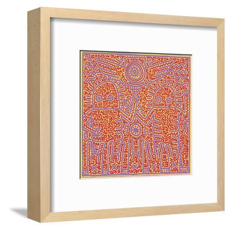 Untitled Pop Art-Keith Haring-Framed Art Print
