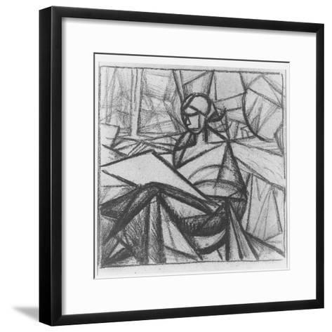 Woman, 1914-15-Alexander Bogomazov-Framed Art Print