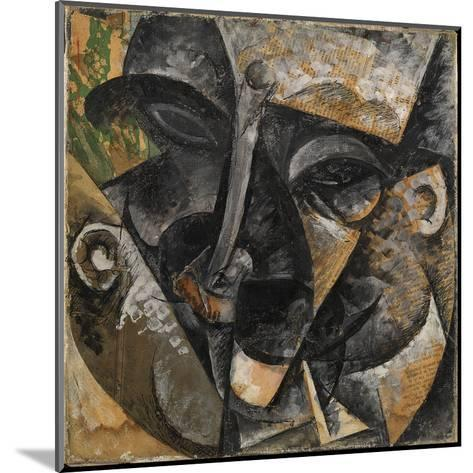 Dynamism of a Man's Head or Composition of a Woman's Head (Dinamismo Di Una Testa Di Uomo)-Umberto Boccioni-Mounted Giclee Print