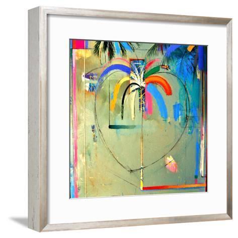 The Serendipity Peek-A-Boo Palm (Hello Freedom)-Andrew Hewkin-Framed Art Print