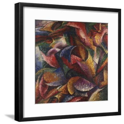 Dynamism of Human Body-Umberto Boccioni-Framed Art Print
