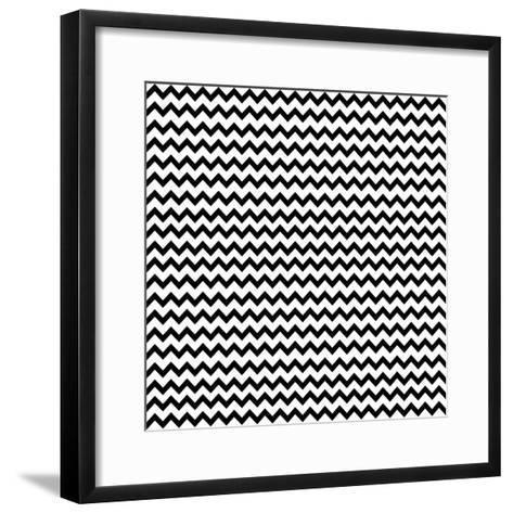 Mod Paisley Chevron-Jyotsna Warikoo-Framed Art Print
