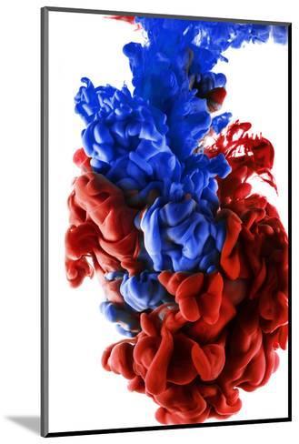 Ink Color Drop, Dark Blue and Red-sanjanjam-Mounted Photographic Print