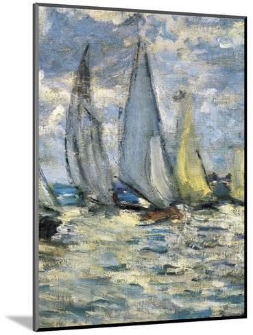 The Boats, or Regatta at Argenteuil-Claude Monet-Mounted Art Print
