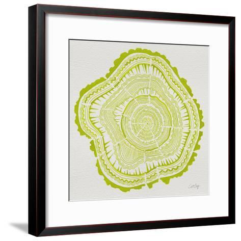 Tree Rings Lime-Cat Coquillette-Framed Art Print