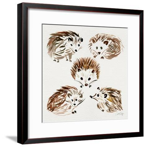 Hedgehogs-Cat Coquillette-Framed Art Print