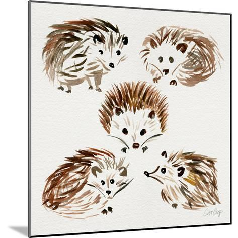 Hedgehogs-Cat Coquillette-Mounted Giclee Print