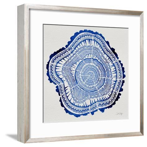 Tree Rings Navy-Cat Coquillette-Framed Art Print