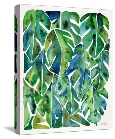 Green Philodendron-Cat Coquillette-Stretched Canvas Print