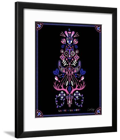 Pink Black LaMort-Cat Coquillette-Framed Art Print
