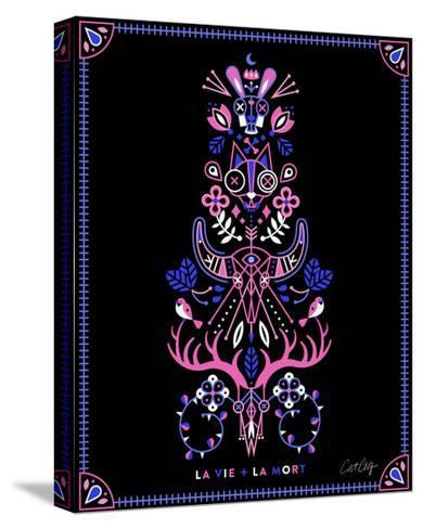 Pink Black LaMort-Cat Coquillette-Stretched Canvas Print