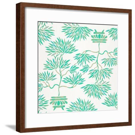 Turquoise Bonsai Pattern-Cat Coquillette-Framed Art Print