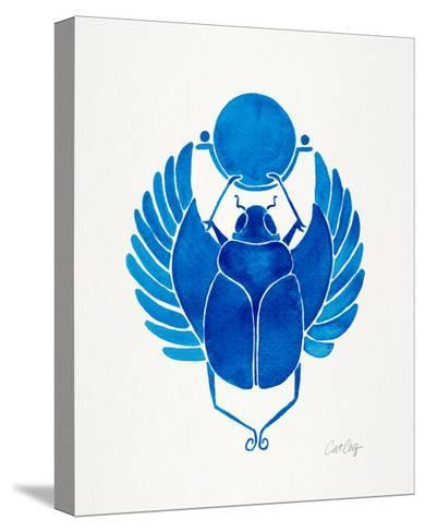 Navy Scarab-Cat Coquillette-Stretched Canvas Print