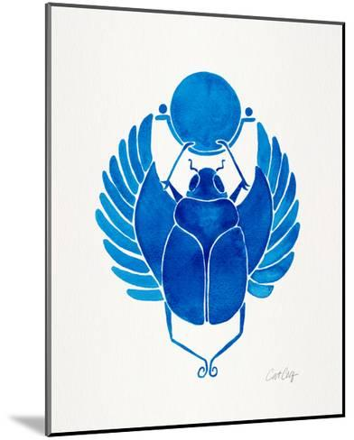 Navy Scarab-Cat Coquillette-Mounted Giclee Print