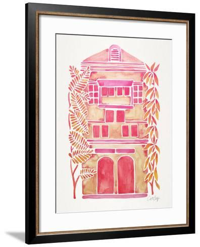 Pink House-Cat Coquillette-Framed Art Print