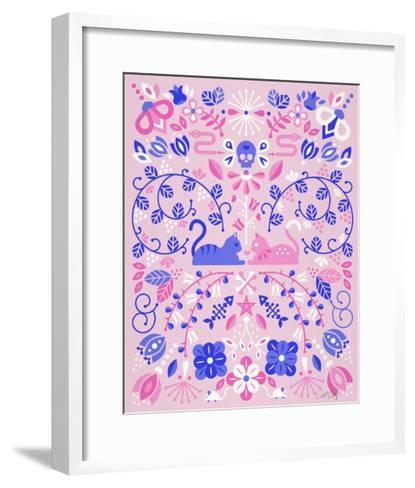 Kittens Symmetry-Cat Coquillette-Framed Art Print