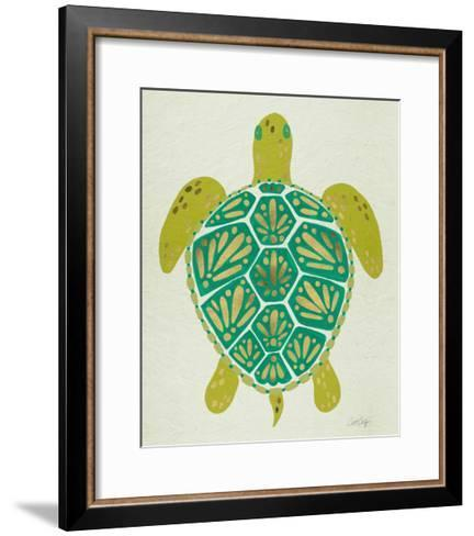 Turtle Green-Cat Coquillette-Framed Art Print