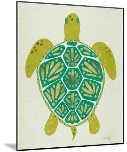 Turtle Green-Cat Coquillette-Mounted Giclee Print