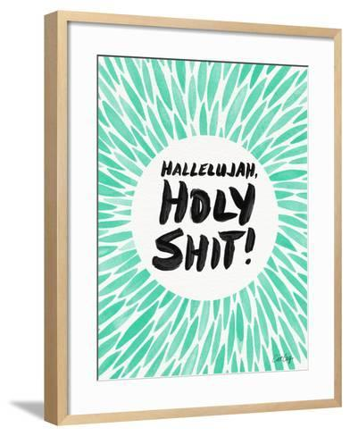Mint Hallelujah Holy Shit-Cat Coquillette-Framed Art Print