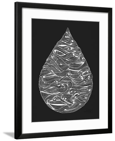 White Water Drop-Cat Coquillette-Framed Art Print
