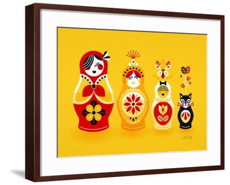 Yellow Russian Dolls-Cat Coquillette-Framed Art Print
